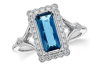 A208-33172: LDS RG 1.58 LONDON BLUE TOPAZ 1.75 TGW