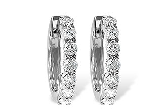 B019-21290: EARRINGS 1.00 CT TW