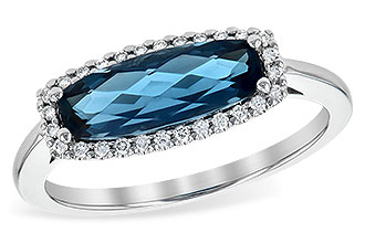 C208-32263: LDS RG 1.79 LONDON BLUE TOPAZ 1.90 TGW