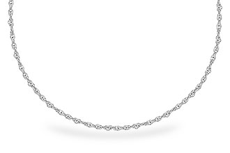 E291-06745: 1.5MM 14KT 18IN GOLD ROPE CHAIN WITH LOBSTER CLASP