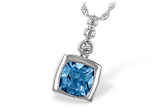 F207-41317: NECK 1.45 BLUE TOPAZ 1.49 TGW