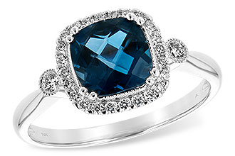 G207-37663: LDS RG 1.62 LONDON BLUE TOPAZ 1.78 TGW