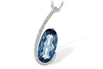 H207-37726: NECK 4.48 LONDON BLUE TOPAZ 4.60 TGW
