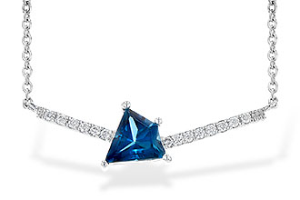 H208-34017: NECK .87 LONDON BLUE TOPAZ .95 TGW