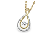 K206-54008: NECKLACE .14 BR (YG TRIM)
