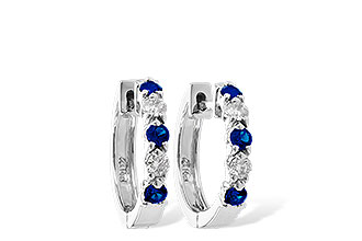 L019-21299: EARRINGS .33 SAPP .52 TGW