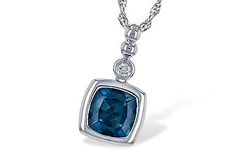 M208-30380: NECK 1.50 LONDON BLUE TOPAZ 1.54 TGW
