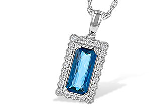 M208-34926: NECK 1.55 LONDON BLUE TOPAZ 1.70 TGW